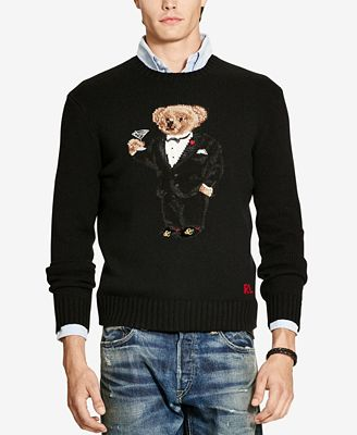 Polo Ralph Lauren Mens Polo Bear Crew Neck Sweater Sweaters Men