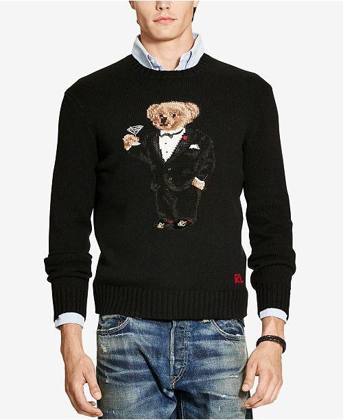 6b3fb1860498d Polo Ralph Lauren Men s Polo Bear Crew Neck Sweater   Reviews ...