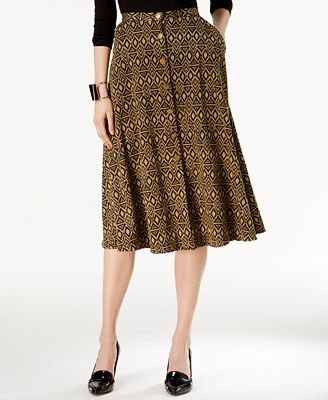 NY Collection Printed A-Line Skirt - Skirts - Women - Macy's