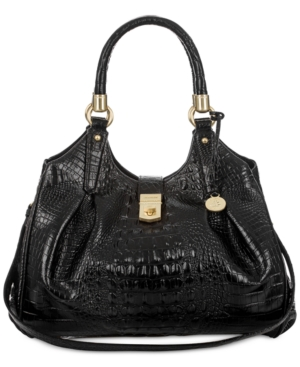 Image of Brahmin Elisa Melbourne Embossed Leather Hobo