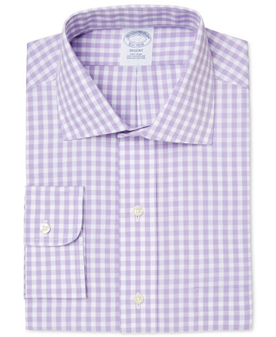 Brooks brothers men 39 s regent classic fit non iron purple for Brooks brothers dress shirt fit guide
