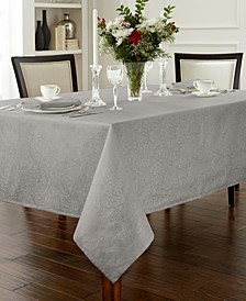 "Chelsea 70"" x 84"" Platinum Tablecloth"