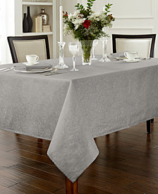 "Waterford Chelsea 90"" Round Platinum Tablecloth"