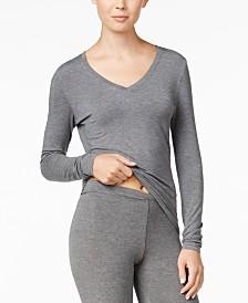 Cuddl Duds Softwear Long Sleeve V-Neck Top
