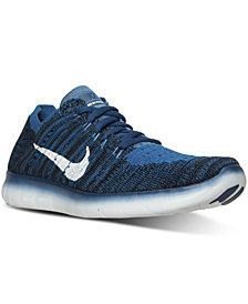 Nike Big Boys'   Free Run Flyknit Running Sneakers from Finish Line