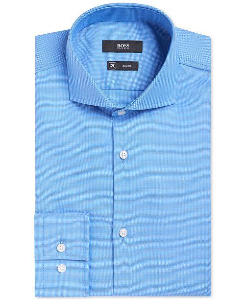 4da588ba Hugo Boss BOSS Men's Slim-Fit Fresh Active Traveler Dress Shirt ...