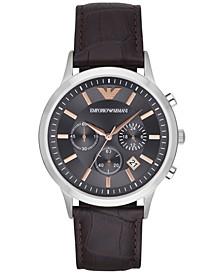 Men's Chronograph Dark Brown Leather Strap Watch 43mm AR2513