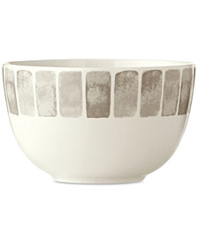 Martha Stewart Collection Heirloom Gray Cereal Bowl, Created for Macy's
