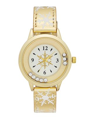 Women's Gold-Tone Glitter Strap Watch, 32mm, Created for Macy's