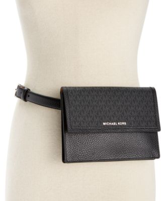 MK Pebble Leather and Logo Fanny Pack
