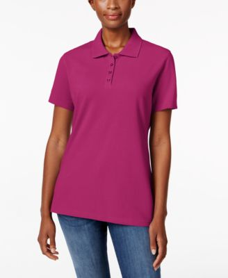 Image of Karen Scott Short-Sleeve Polo Top, Created for Macy's