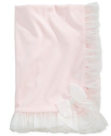 Baby Girls Tulle-Trim Blanket, Created for Macy's