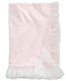 First Impressions Tulle-Trim Blanket, Baby Girls, Created for Macy's
