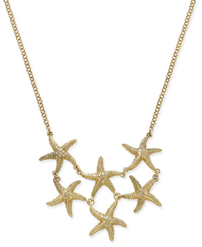 Charter Club Gold-Tone Starfish Bib Necklace, Created for Macy's
