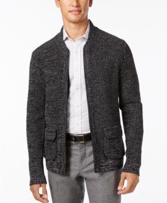 Alfani Men's Big and Tall Flap-Pocket Full-Zip Cardigan, Created ...