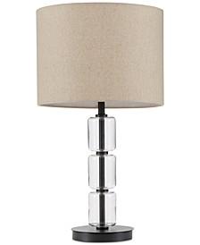 Madison Park Signature Francis Glass & Metal Table Lamp