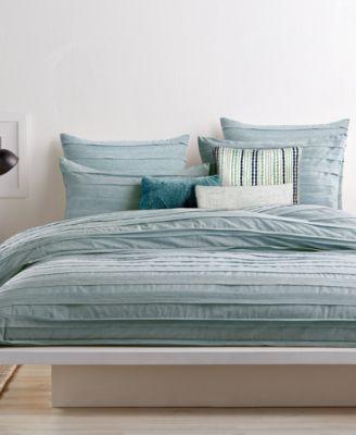 dkny loft stripe jade duvet covers - Comforter Covers