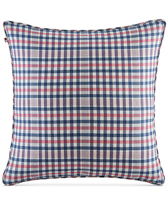 Tommy Hilfiger Decorative Bed Pillows : Tommy Hilfiger Timeless Plaid/Stripe Dual Pattern 20
