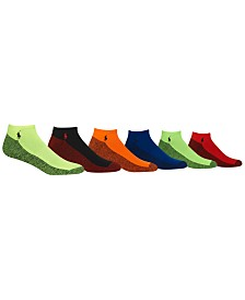 Polo Ralph Lauren Men's Athletic Celebrity no show ankle Socks 6-Pack