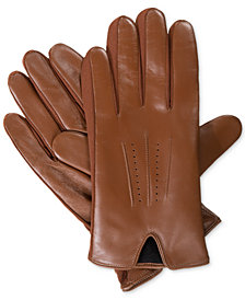 Isotoner Signature Men's Leather Stretch Gloves
