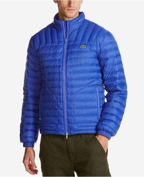 6fd610671f71 Lacoste Men s Water-Repellent Ripstop Puffer Coat  Lacoste Men s  Water-Repellent Ripstop Puffer ...