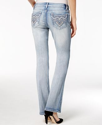 Project Indigo Juniors&39 Embellished Ripped Bootcut Jeans - Bootcut