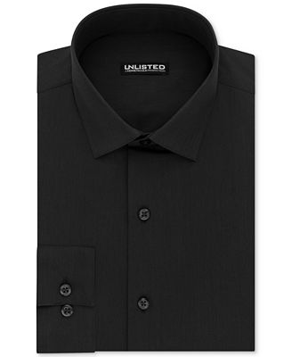 Kenneth Cole Unlisted Men's Slim-Fit Solid Dress Shirt - Dress ...