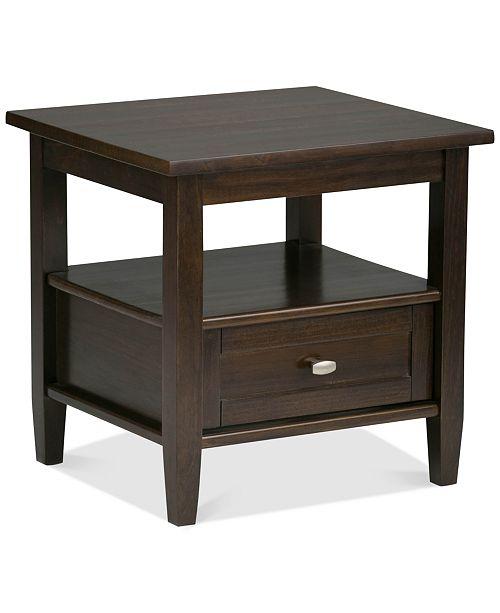 Simpli Home Burbank End Side Table