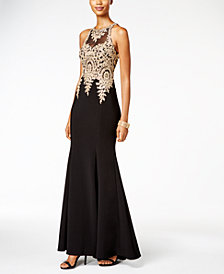 Xscape Floral-Lace Mermaid Gown