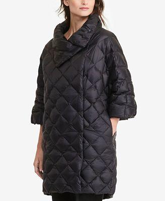 Lauren Ralph Lauren Petite Quilted Mock Neck Down Jacket