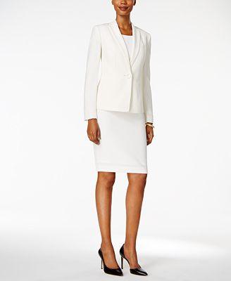 Kasper Crepe Jacket & Sheath Dress