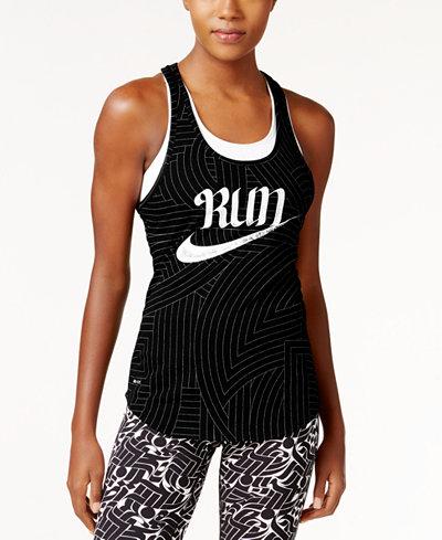 Nike Run Printed Dri-FIT Racerback Tank Top