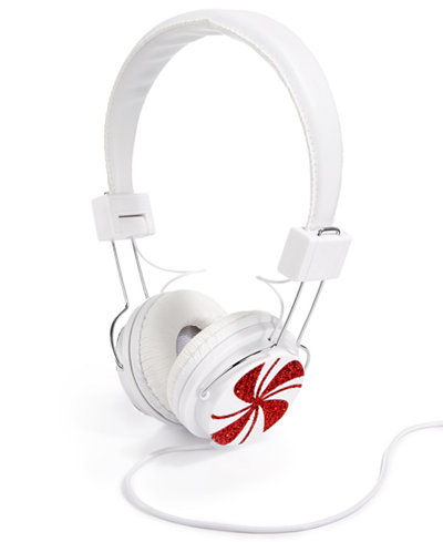Celebrate Shop Peppermint Swirl Headphones, Only at