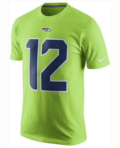 Nike Men s Fan  12 Seattle Seahawks Color Rush Name   Number T-Shirt ... 03463a6bc
