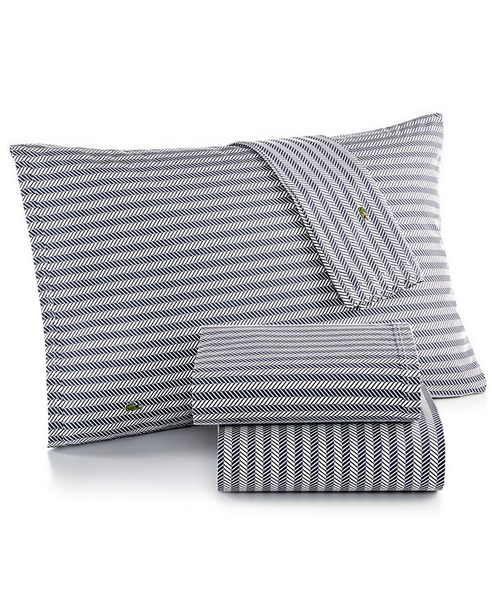 Lacoste Home - Printed Percale Pair of Standard Pillowcases