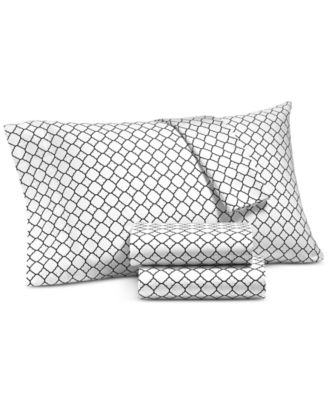 Printed Geo Standard Pillowcase Pair, 500 Thread Count, Created for Macy's