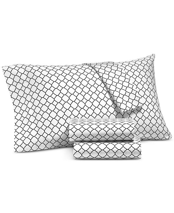 Charter Club CLOSEOUT! Printed Geo Standard Pillowcase Pair, 500 Thread Count, Created for Macy's