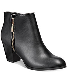 Style & Co Jamila Zip Booties, Created for Macy's