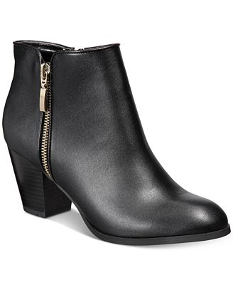 style co jamila zip booties created for macy s boots shoes
