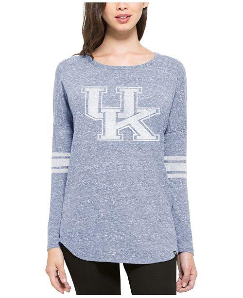 '47 Brand Women's Kentucky Wildcats Neps Tri Scrum Long-Sleeve T-Shirt