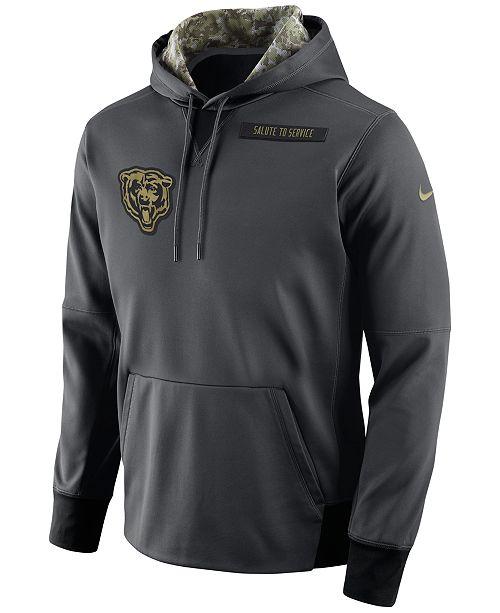 buy popular 16d86 25535 Nike Men's Chicago Bears Salute to Service Hoodie & Reviews ...