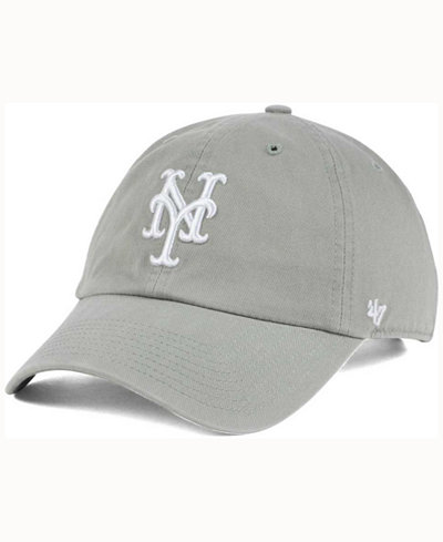 '47 Brand New York Mets Gray White CLEAN UP Cap