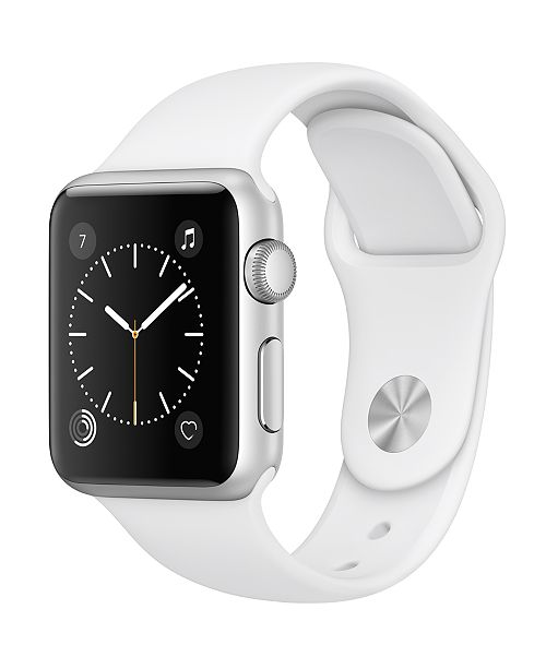 Apple Watch Series 1 38mm Silver-Tone Aluminum Case with White Sport Band