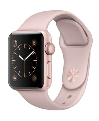Image of Apple Watch Series 2 38mm Rose Gold-Tone Aluminum Case with Pink Sand Sport Band