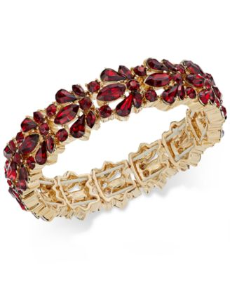 Image of Charter Club Crystal Stone Stretch Bracelet, Only at Macy's