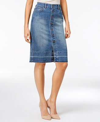 Style & Co Denim Pencil Skirt, Only at Macy's - Skirts - Women ...