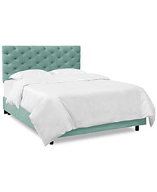 Hyde Park Queen Horizontal Tufted Bed, Quick Ship