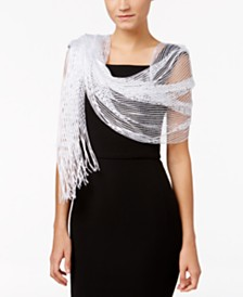 I.N.C. Lurex® Metallic Net Evening Wrap, Created for Macy's