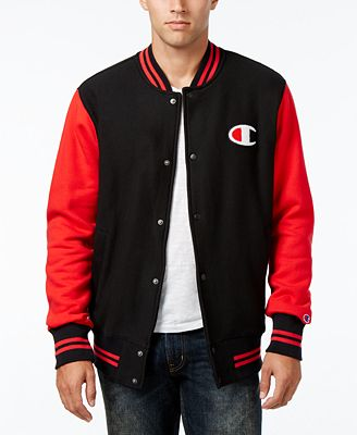 Champion Men's Reverse Weave Baseball Jacket - Coats & Jackets ...