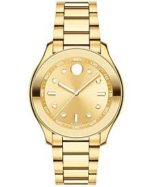 Movado Men's Swiss Bold Gold-Tone Stainless Steel Bracelet Watch 38mm 3600416